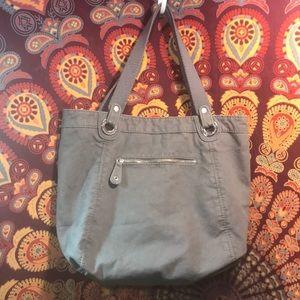 Aeropostale Gray Lined Denim Shoulder Bag